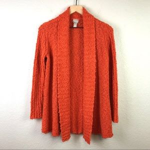 Chico's Open Front Textured Cardigan